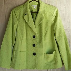 NWT Lime Green Blazer JM Collection